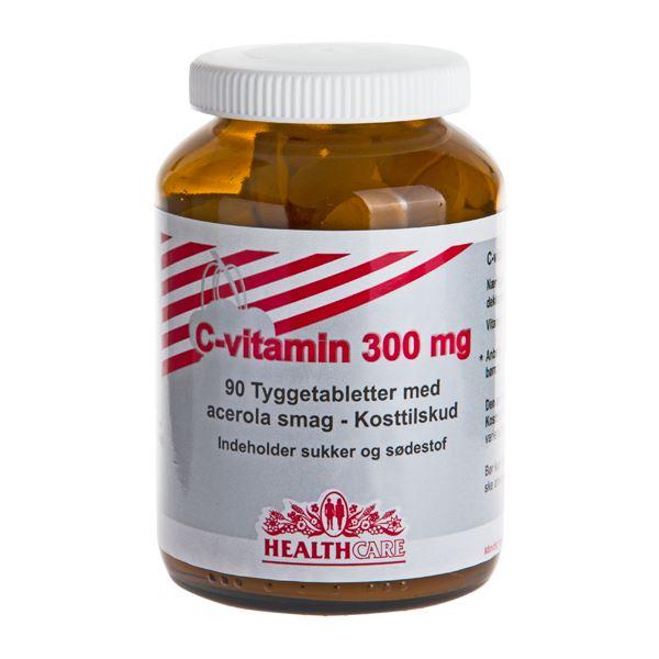 C-vitamin 300 mg med Acerola smag 90 tyggetabletter