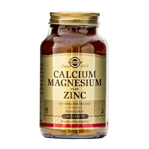 Calcium Magnesium Plus Zinc Solgar 100 tabletter