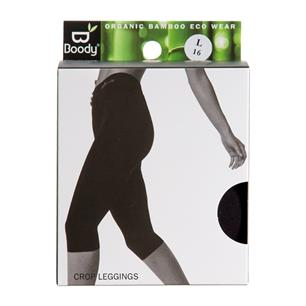 Leggings Basic Crop Sort str. L Boody økologisk