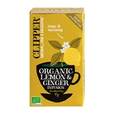 Lemon & Ginger Infusion Clipper 20 breve økologisk