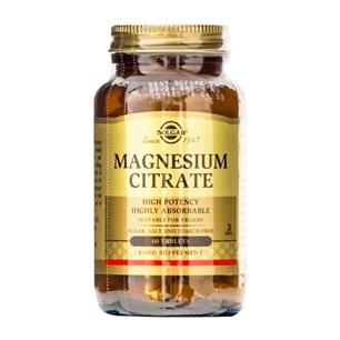 Magnesium Citrate Solgar 60 tabletter