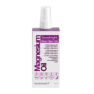 Magnesium Oil Goodnight Spray Søvn NordicHealth 100 ml