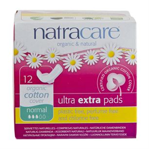 Ultra Extra Pads Normal Natracare 12 stk. økologisk
