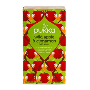 Pukka Wild Apple & Cinnamon with Ginger 20 breve økologisk