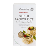 Sushi Brown Rice Clearspring 500 g økologisk