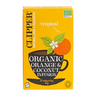 Tropical Orange & Coconut Clipper 20 breve økologisk