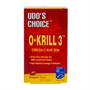 Udo\'s Choice O-Krill 3 500 mg 60 kapsler