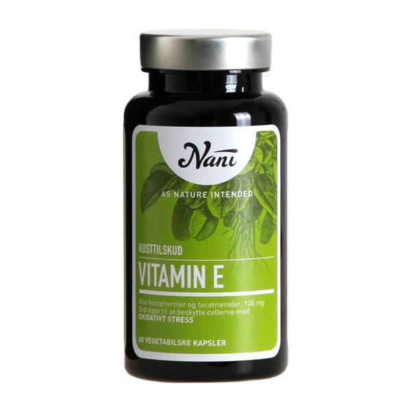 vitamin e nani 60 vegetabilske kapsler. Black Bedroom Furniture Sets. Home Design Ideas
